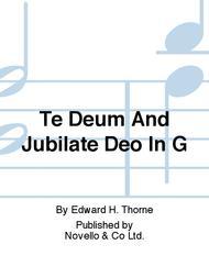 Te Deum And Jubilate Deo In G