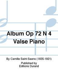 Album Op 72 N 4 Valse Piano