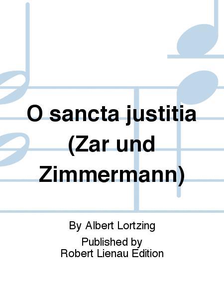O sancta justitia (Zar und Zimmermann)
