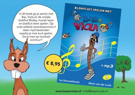 Blokfluit Spelen Met Bas en Viola