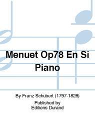 Menuet Op78 En Si Piano