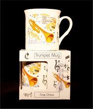 Fine China Mug - Trumpet Design