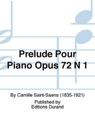 Prelude Pour Piano Opus 72 N 1