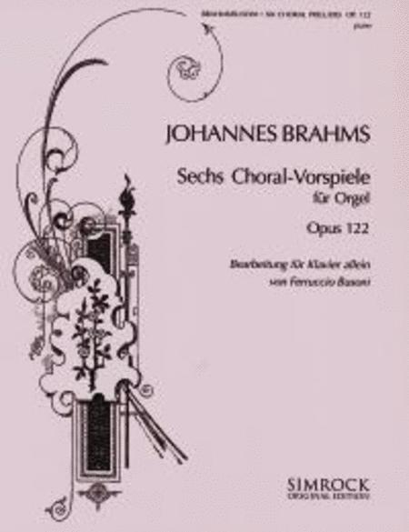 Choralvorspiele(6) Op.122