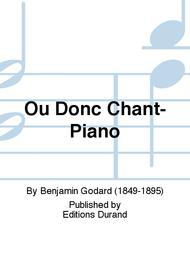 Ou Donc Chant-Piano