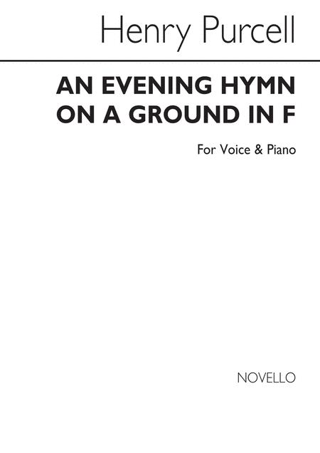 Evening Hymn On A Ground (Voice/Piano)