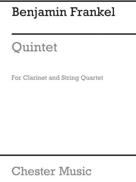 Quintet For Clarinet And String Quartet Op.28