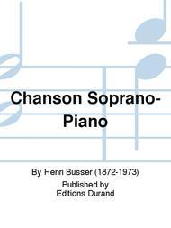 Chanson Soprano-Piano