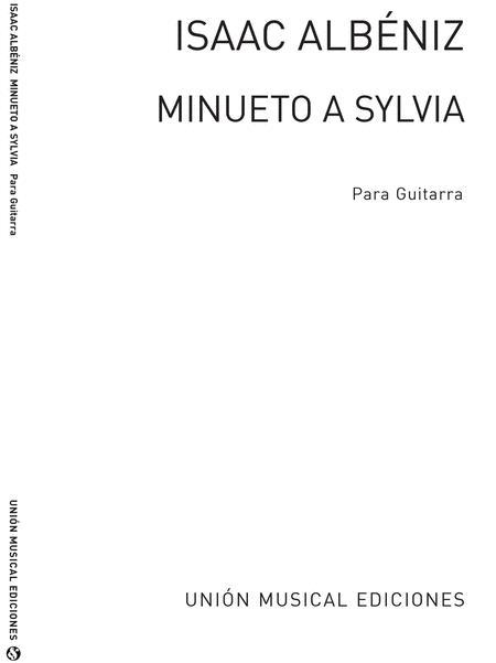 Minueto A Sylvia (garcia Fortea) Guitar