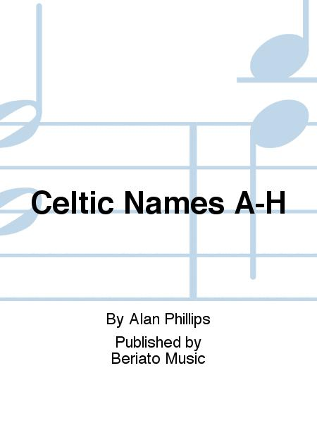 Celtic Names A-H