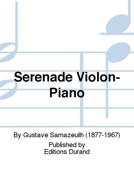 Serenade Violon-Piano
