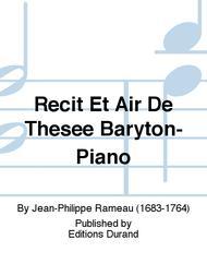 Recit Et Air De Thesee Baryton-Piano