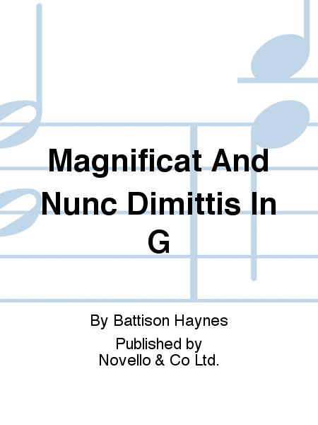 Magnificat And Nunc Dimittis In G