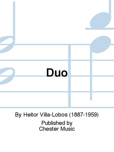 Duo for violin and viola: Cover Art