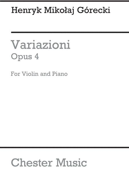 Variazioni Op.4