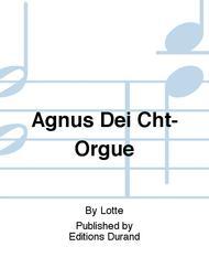 Agnus Dei Cht-Orgue