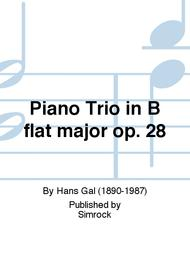 Piano Trio in B flat major op. 28