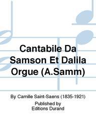 Cantabile Da Samson Et Dalila Orgue (A.Samm)