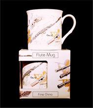 Fine China Mug - Flute Design