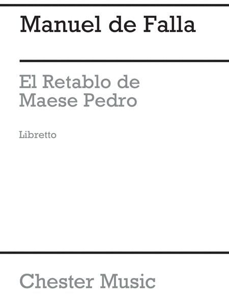El Retablo De Maese Pedro (French Edition)