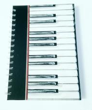 A6 Hardback Spiral Bound Notebook - Piano Keys