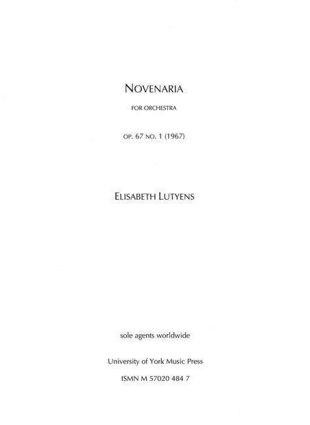 Novenaria Op.67 No.1