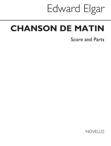 Chanson De Matin Recorder Quintet Score/Parts