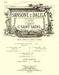 Samson Et Dalila N 7 It-Fr Mezzo-Pno