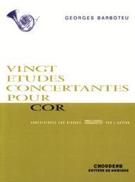 20 Concert Etudes For French Horn