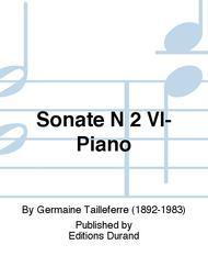 Sonate N 2 Vl-Piano
