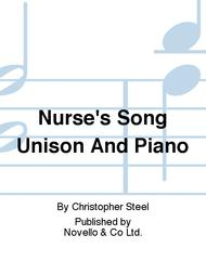 Nurse's Song Unison And Piano