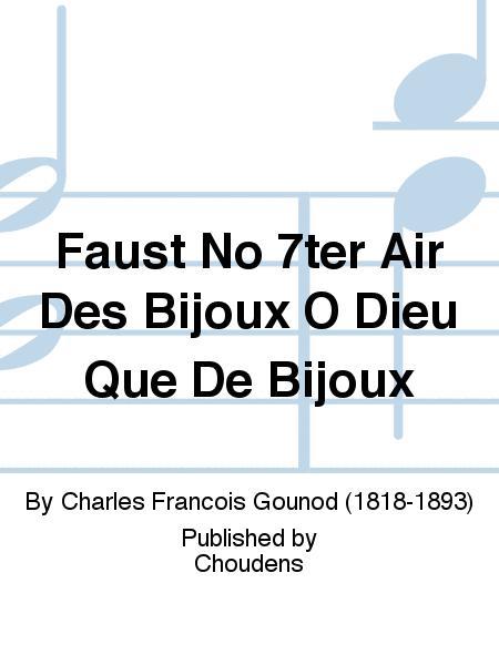large choix de couleurs le plus populaire dernière mode Faust No 7ter Air Des Bijoux O Dieu Que De Bijoux Sheet ...