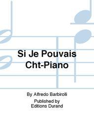 Si Je Pouvais Cht-Piano
