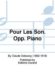 Pour Les Son. Opp. Piano