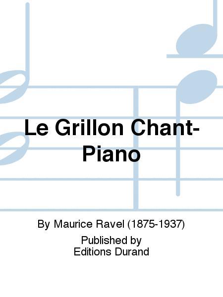 Le Grillon Chant-Piano