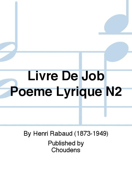 Livre De Job Poeme Lyrique N2 Sheet Music By Henri Rabaud