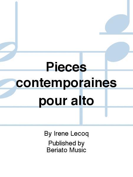 Pieces contemporaines pour alto