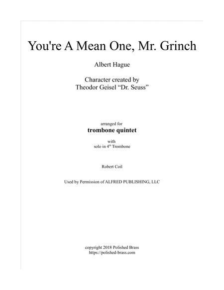 You're A Mean One, Mr. Grinch (trombone quintet)