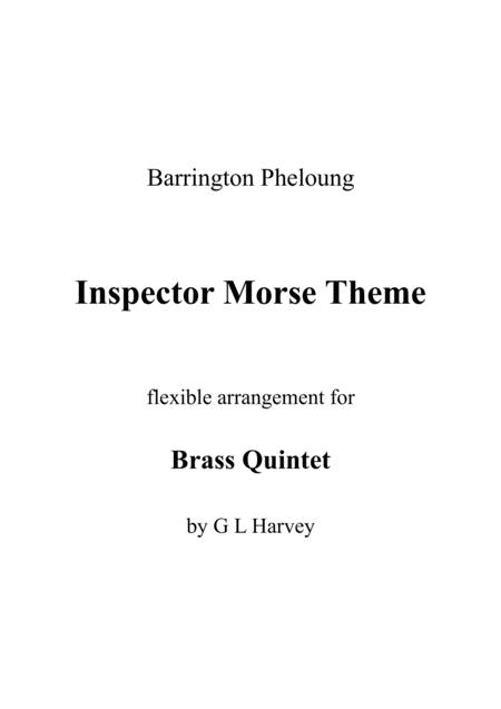 inspector morse theme (flexible brass quintet) by - digital sheet music for  score,set of parts - download & print h0.549769-sc001257427 | sheet music  plus  sheet music plus