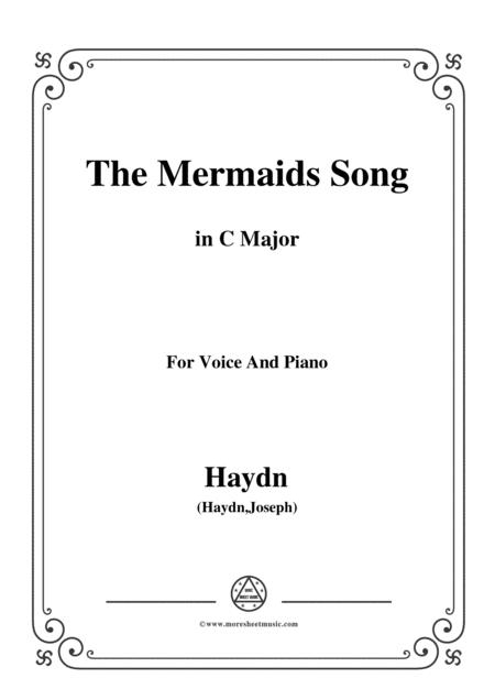 Haydn-The Mermaids Song in C Major, for Voice and Piano