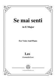 Leo-Se mai senti,from 'La clemenza di Tito',in E Major,for Voice and Piano