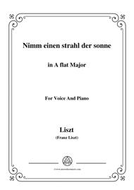 Liszt-Nimm einen strahl der sonne in A flat Major,for Voice and Piano