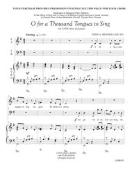 O For a 1000 Tongues to Sing