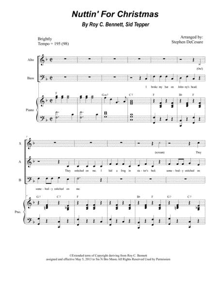 Nuttin For Christmas.Download Nuttin For Christmas For Sab Sheet Music By
