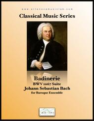 Badinerie. From BWV 1067 Suite