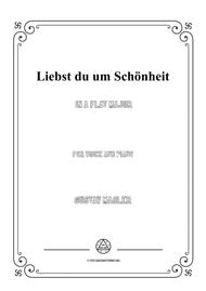 Mahler-Liebst du um Schönheit in A flat Major,for Voice and Piano