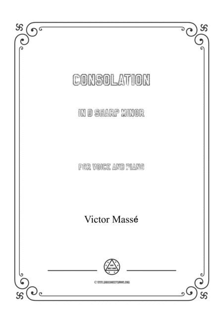 Masse-Consolation in d sharp minor,for Voice and Piano