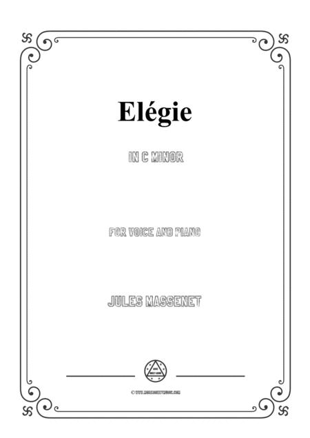 Massenet-Elégie in c minor,for Voice and Piano