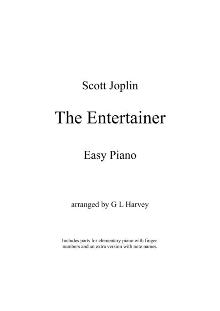 The Entertainer (Easy Piano)