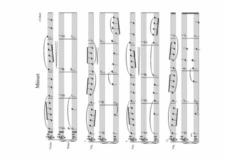 J S Bach Minuet in G for violin and piano